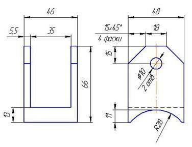 схема прямоугольных креплений для отвязки