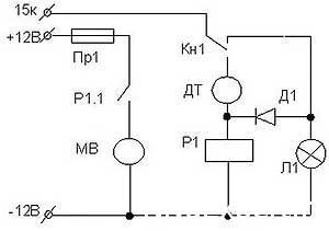 электро схема включения датчика вентилятора