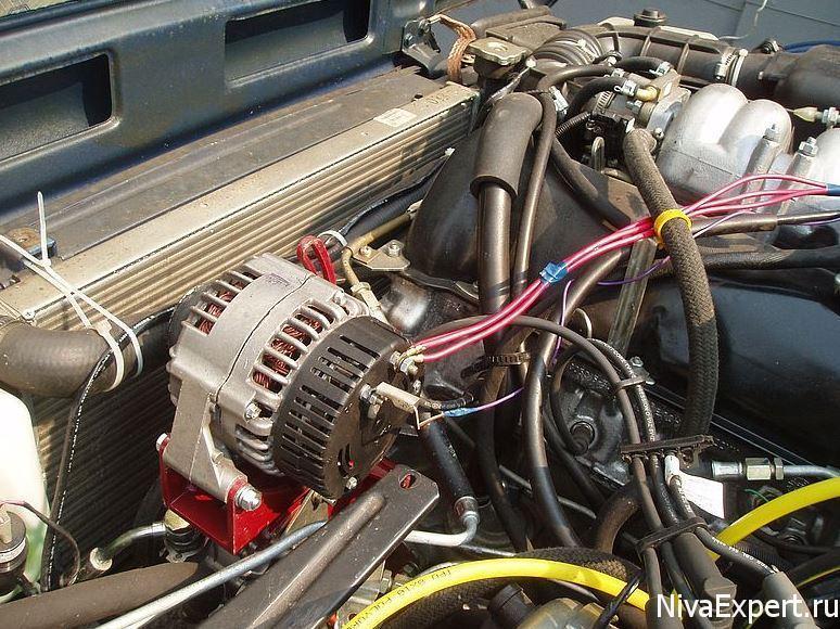 генератор на ниве выдает 18 вольт