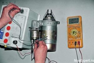 проверка стартера амперметром