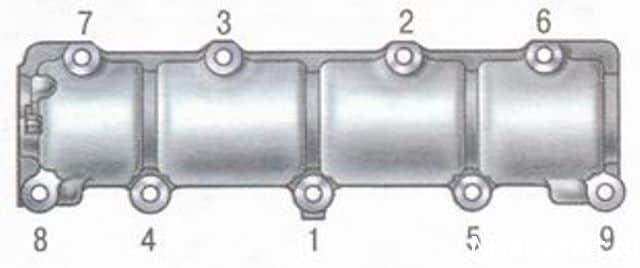 схема порядок затяжки крышки клапанов нива