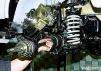 демонтаж привода колес